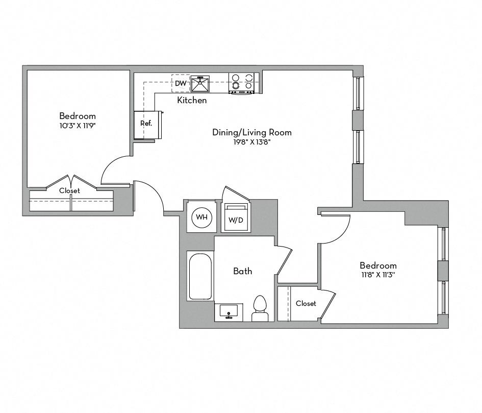 Apartment 0530 floorplan