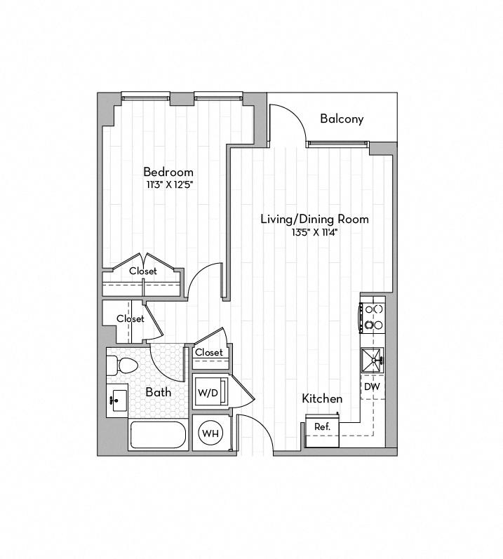 Apartment 0708 floorplan