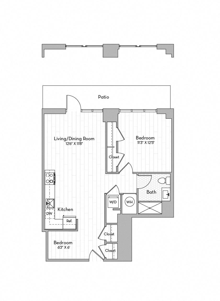Apartment 0502 floorplan