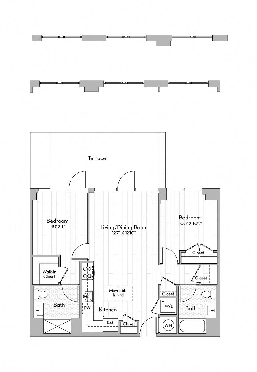 Apartment 0440 floorplan