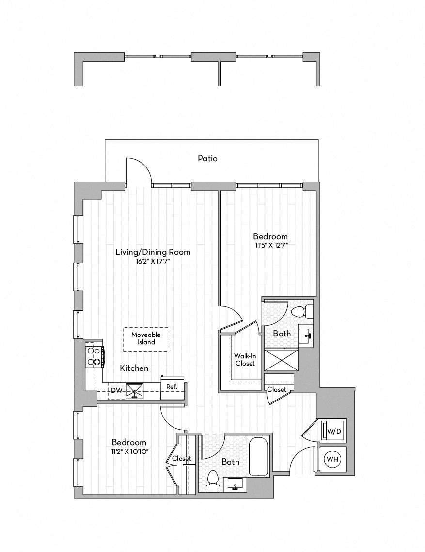Apartment 0156 floorplan