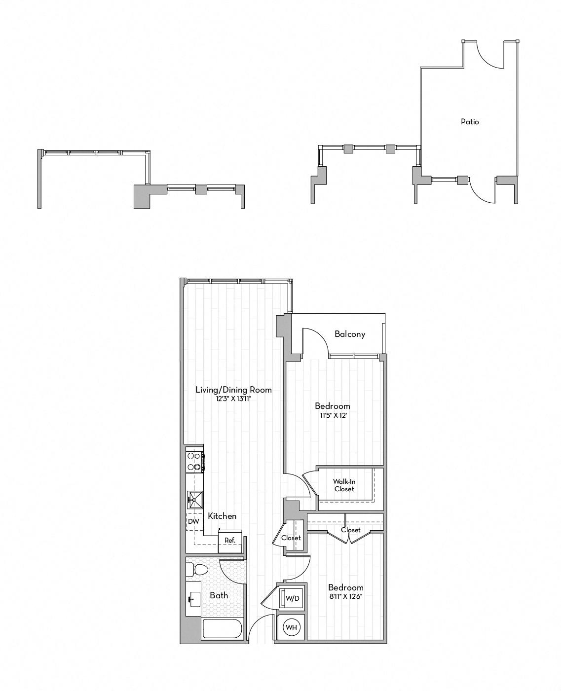 Apartment 0507 floorplan