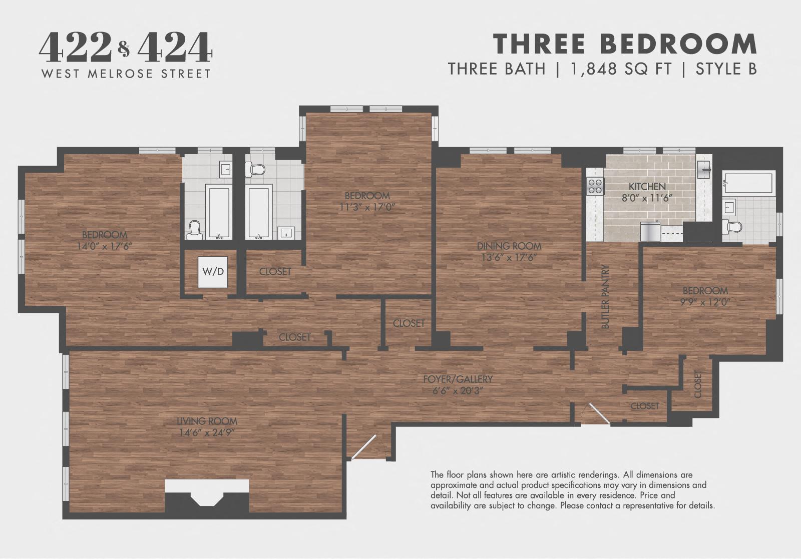 3BR/3BA - Style B