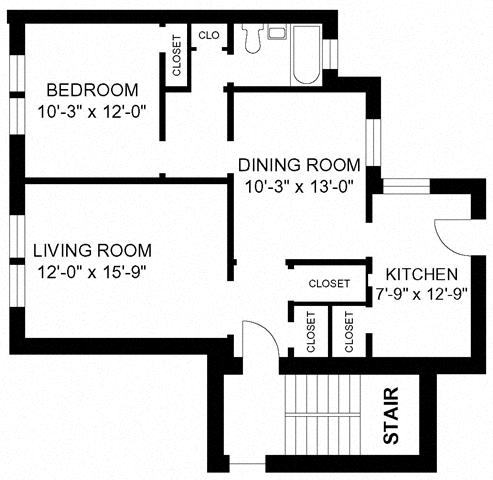 1BR/1BA - Style F