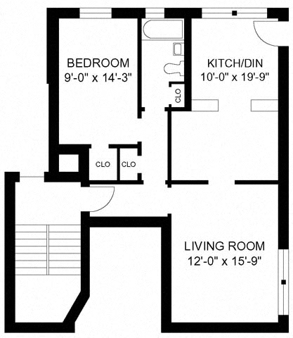1BR/1BA Style F