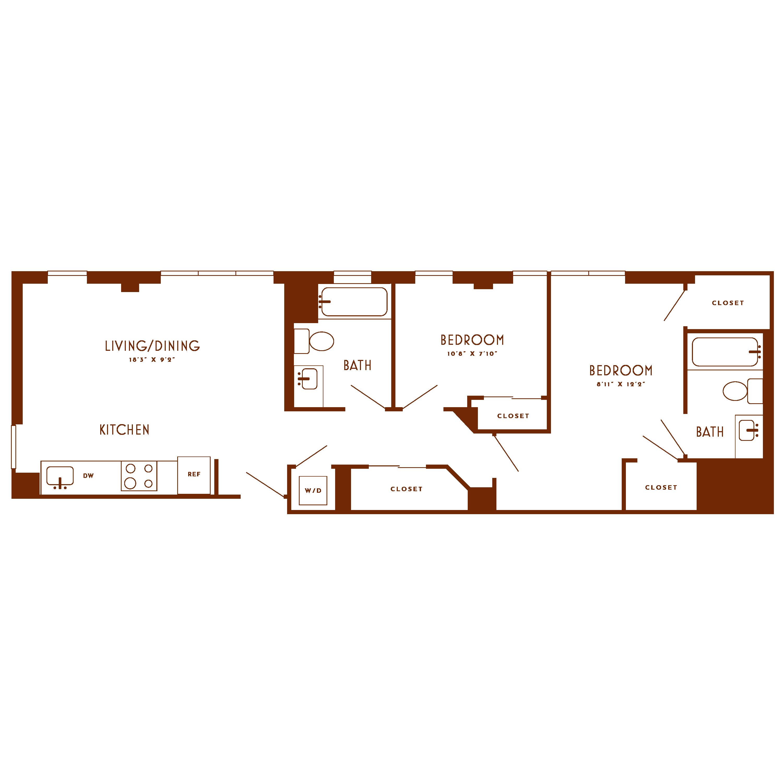Floor plan image of unit 805