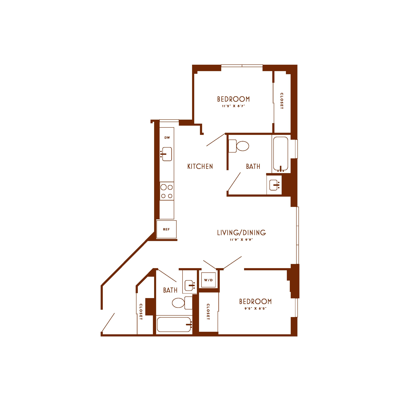Floor plan image of unit 819