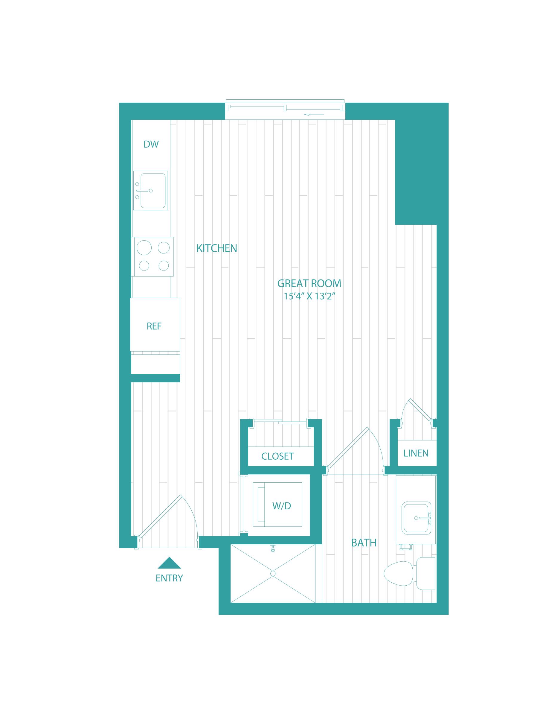 floorplan image of unit 0718