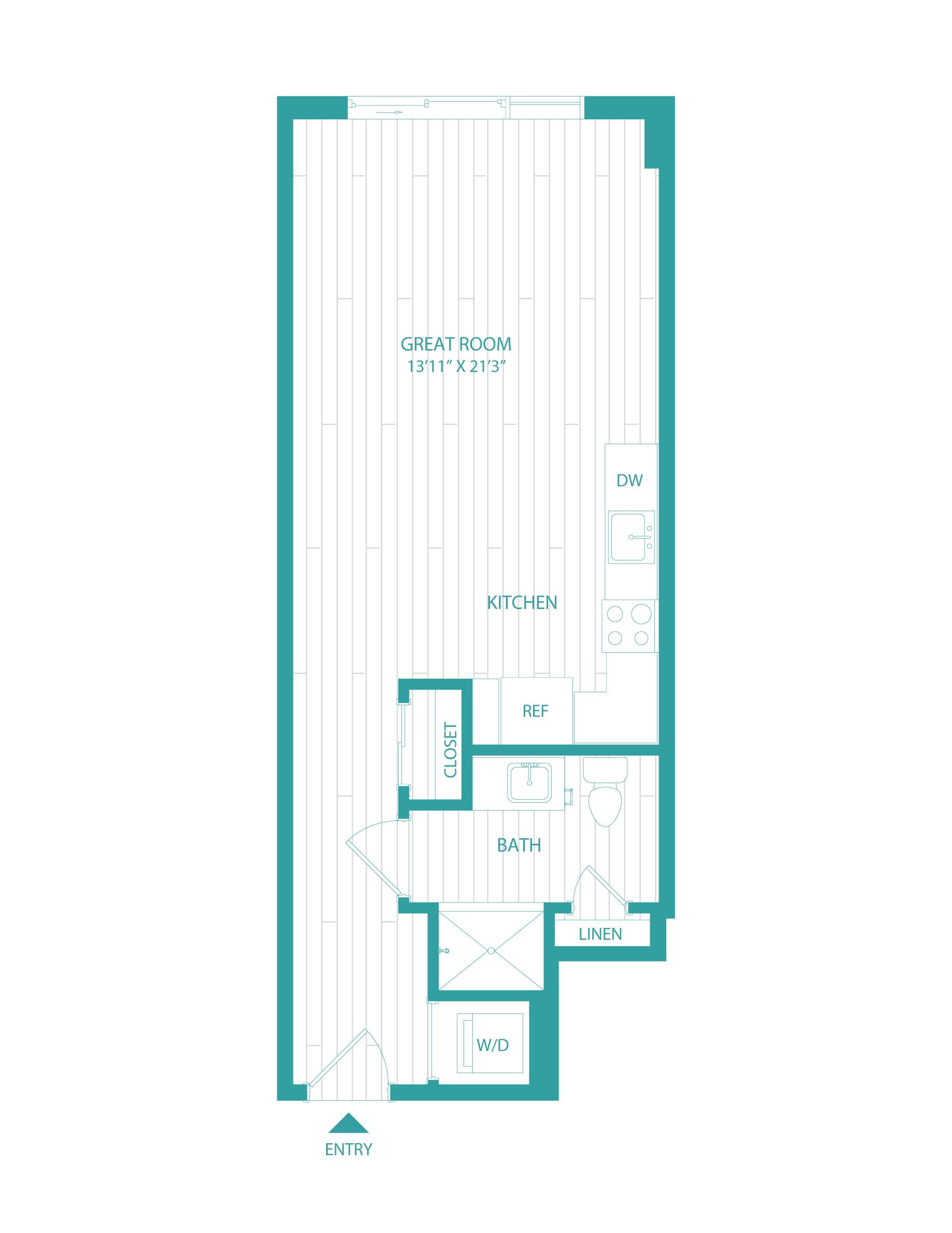 floorplan image of unit 0406