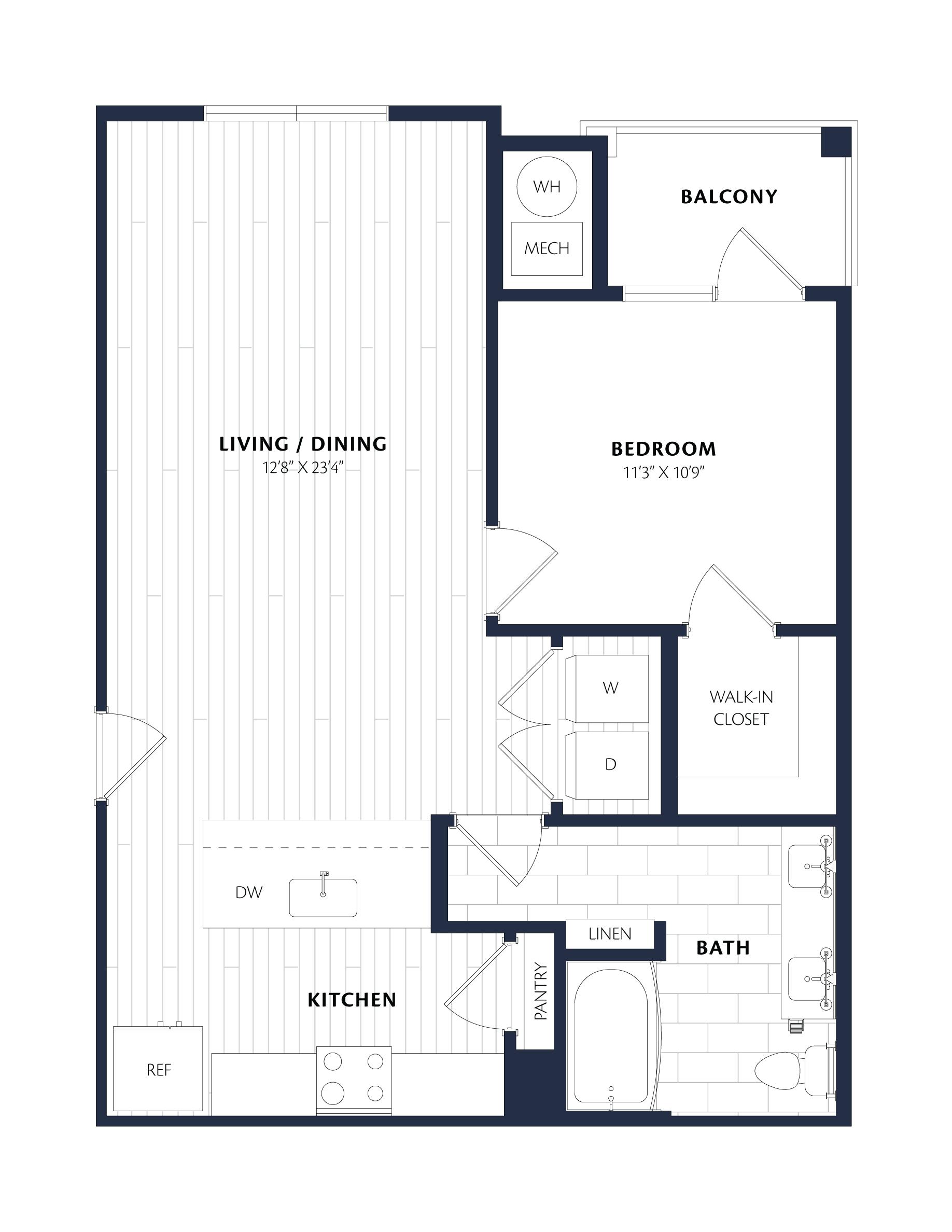 Apartment 3224 floorplan