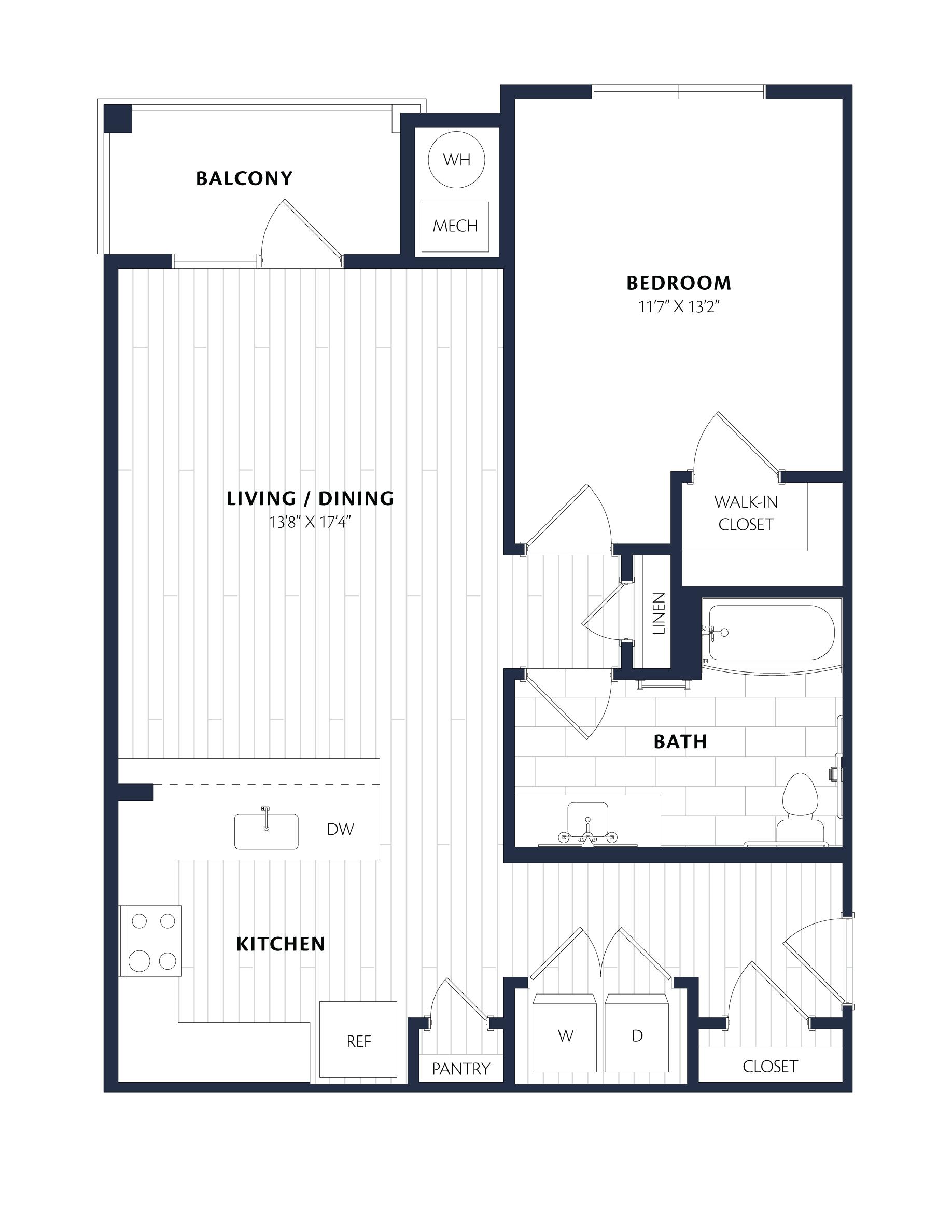 Apartment 3212 floorplan