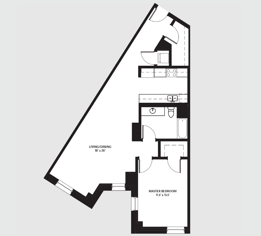 Apartment 1804 floorplan