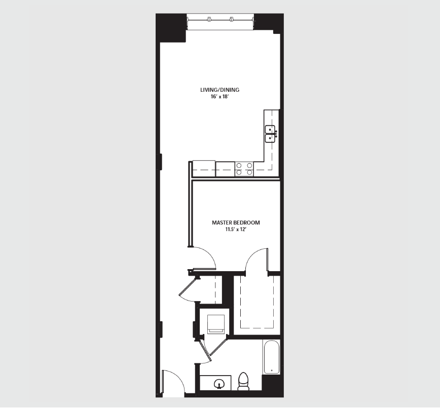 Apartment 0615 floorplan