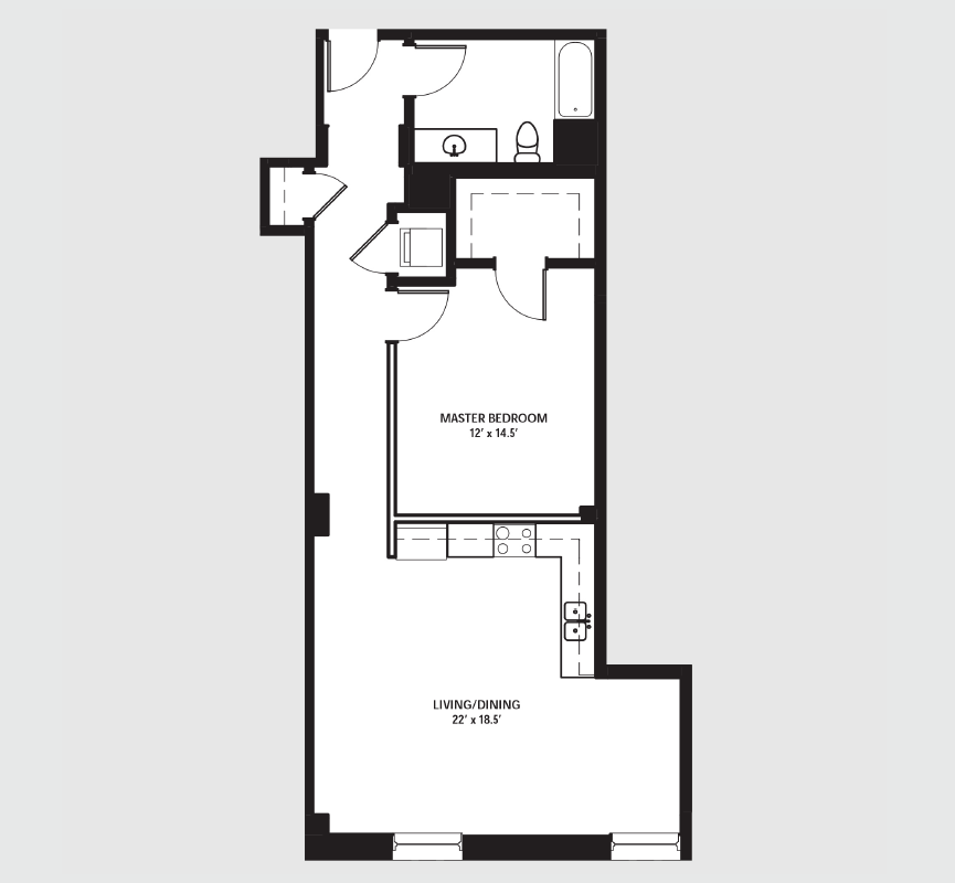 Apartment 0709 floorplan