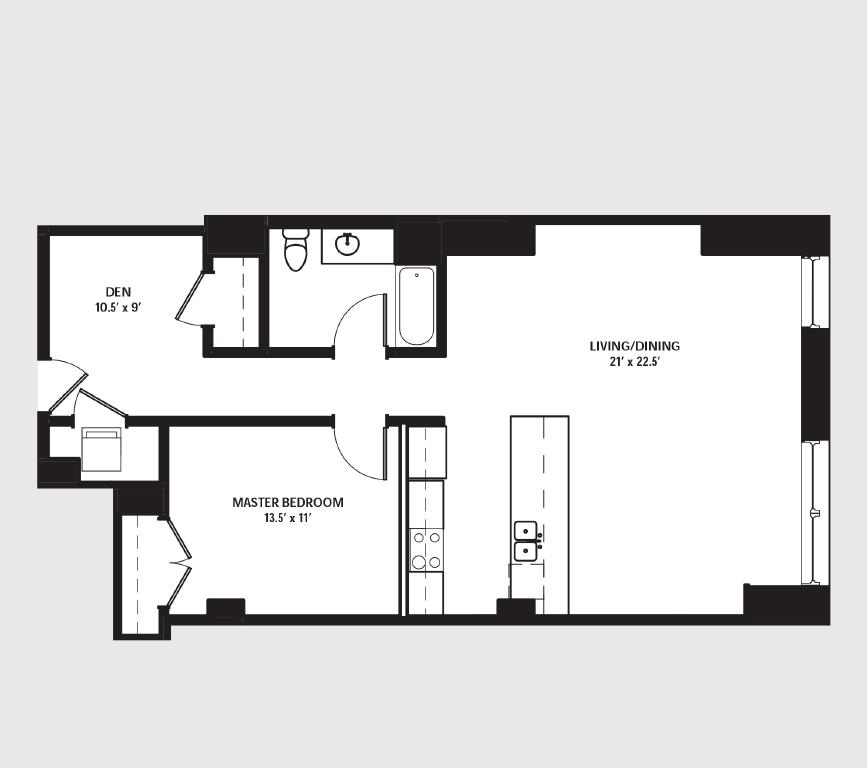 Apartment 1908 floorplan