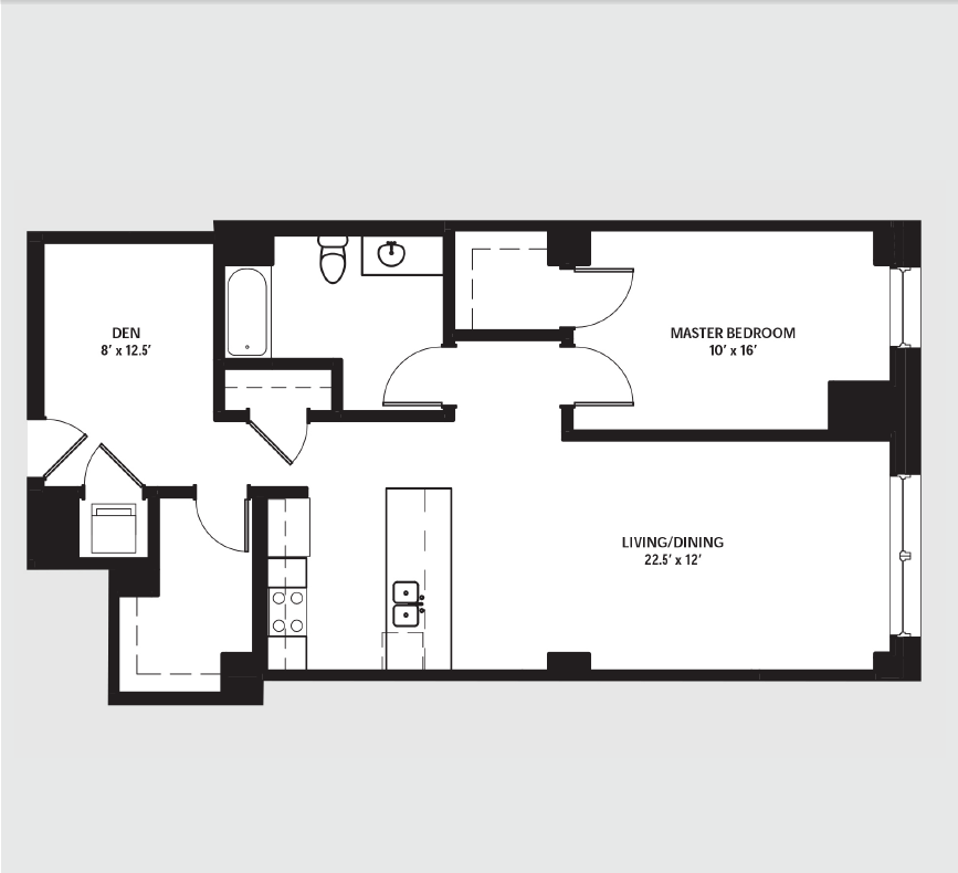 Apartment 0808 floorplan