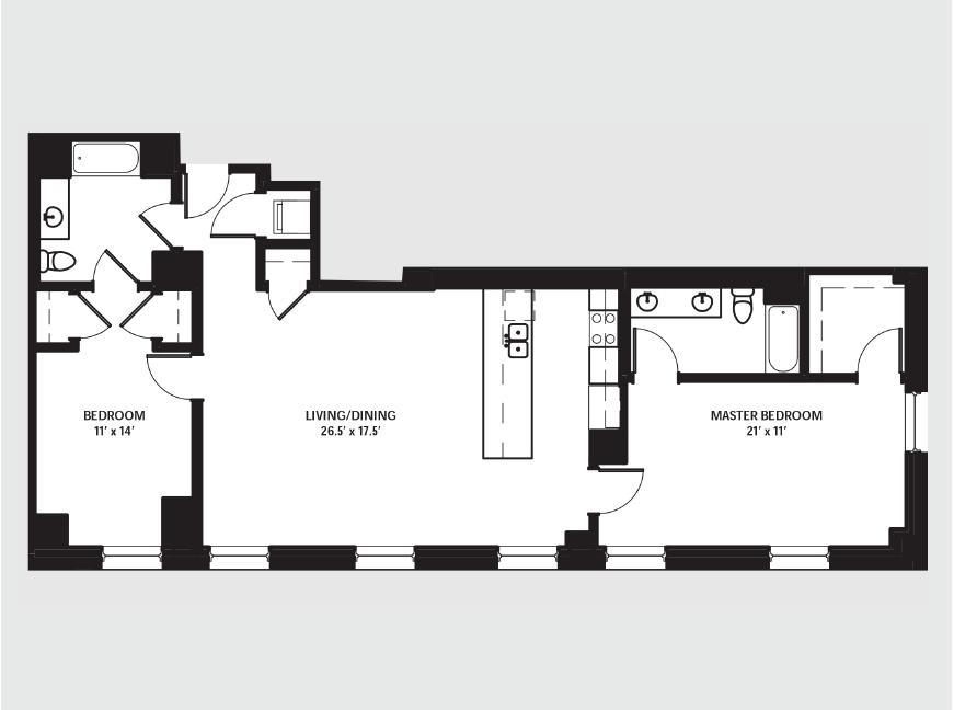 Apartment 1407 floorplan