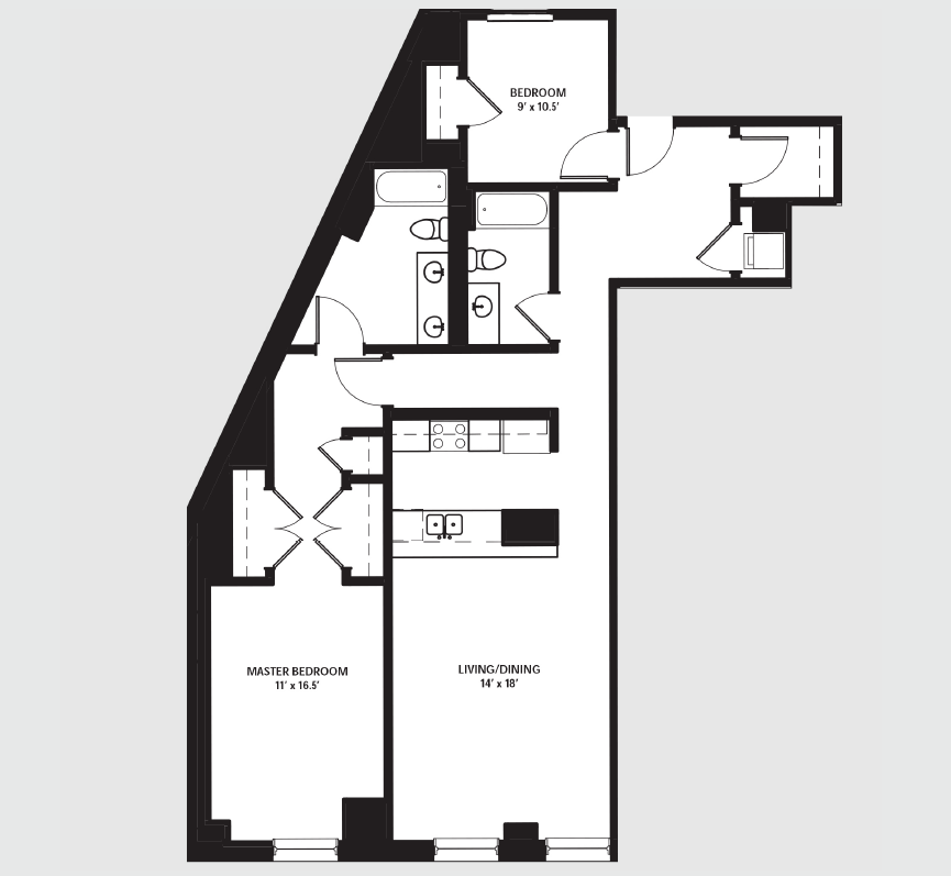 Apartment 0601 floorplan