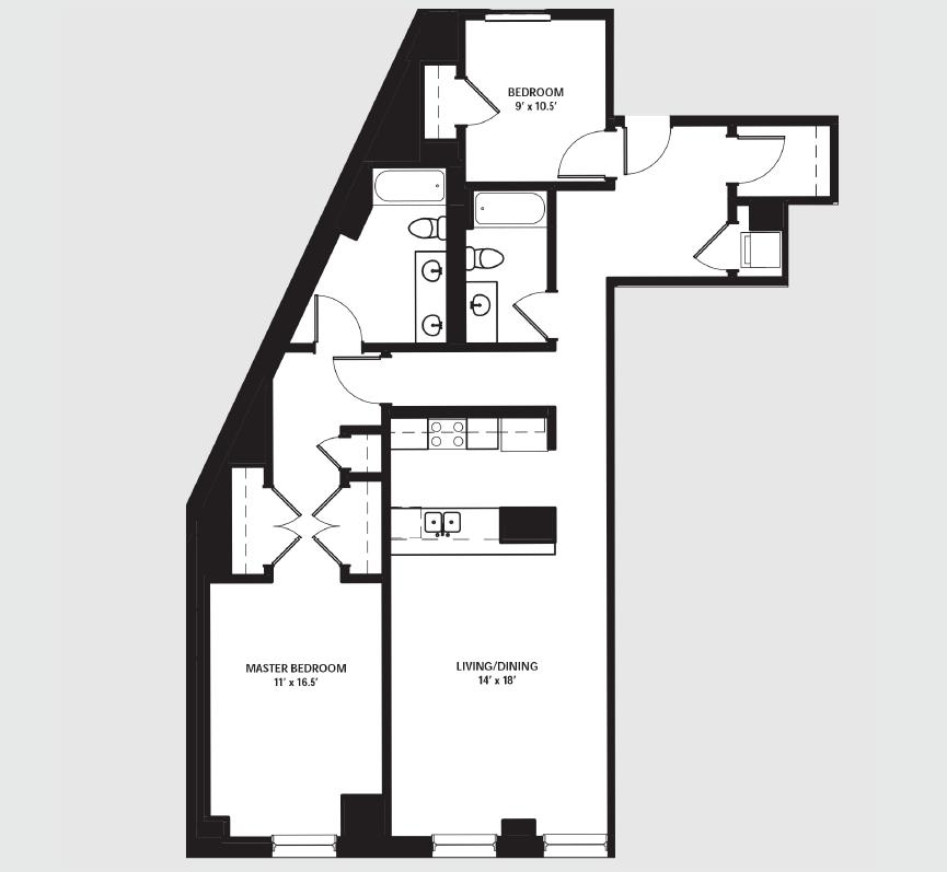 Apartment 0601 floorplan