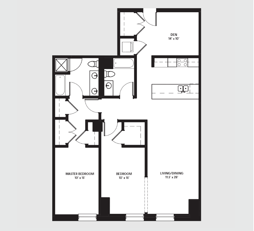 Apartment 1502 floorplan
