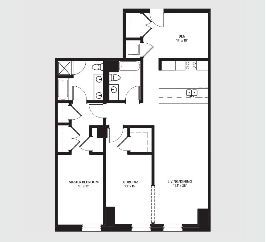 Apartment 1302 floorplan