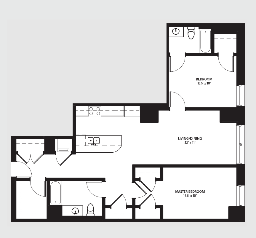 Apartment 0810 floorplan