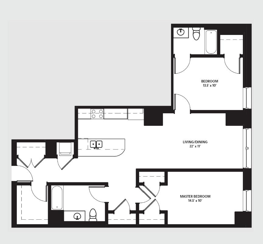 Apartment 1610 floorplan
