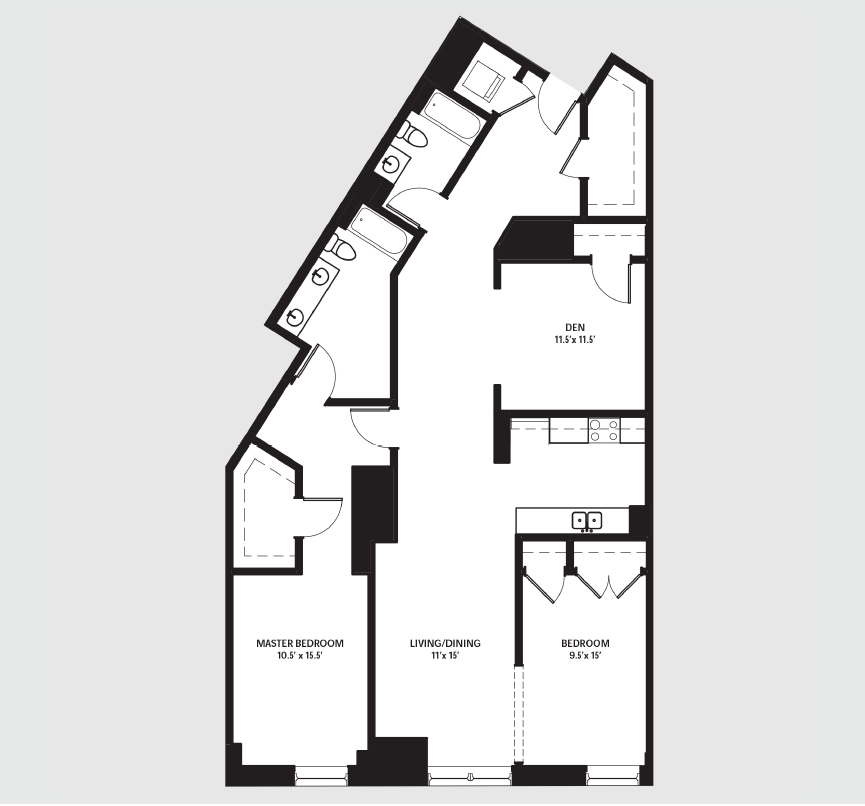 Apartment 0206 floorplan