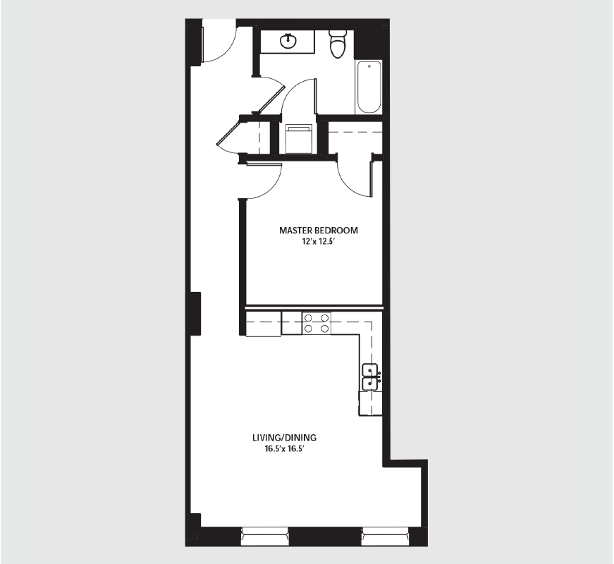 Apartment 0409 floorplan