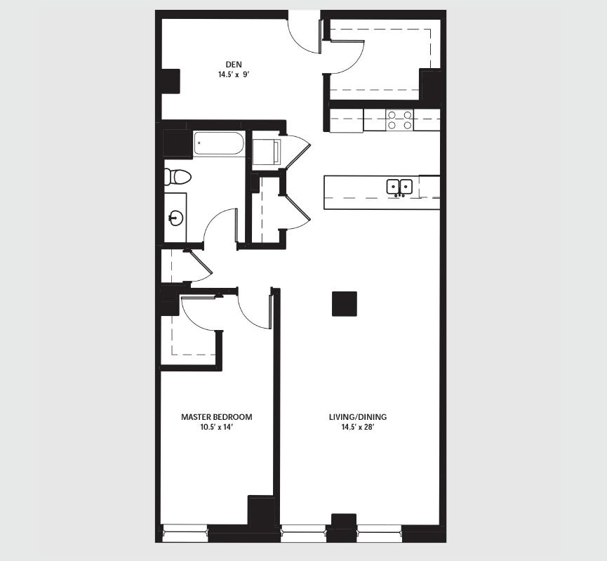 Apartment 1603 floorplan