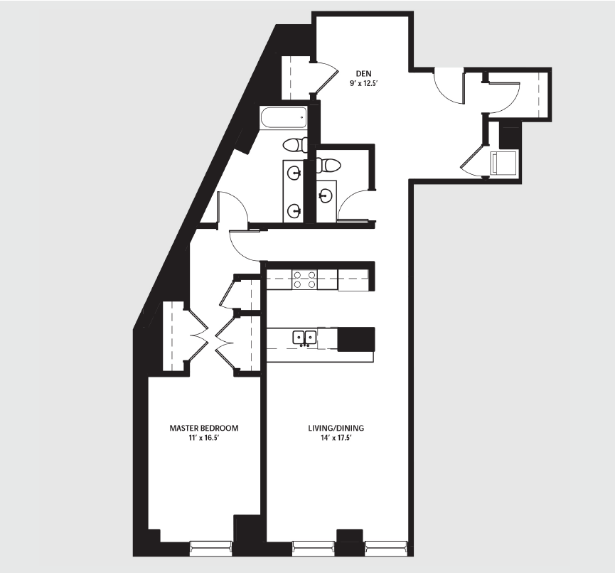 Apartment 0401 floorplan