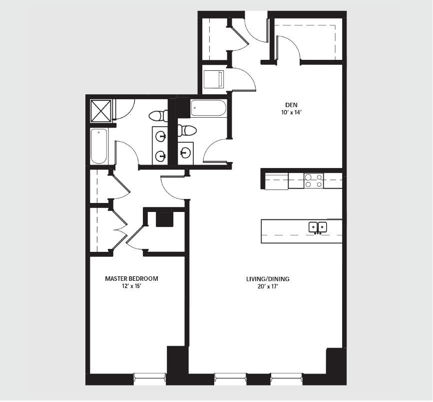 Apartment 0702 floorplan
