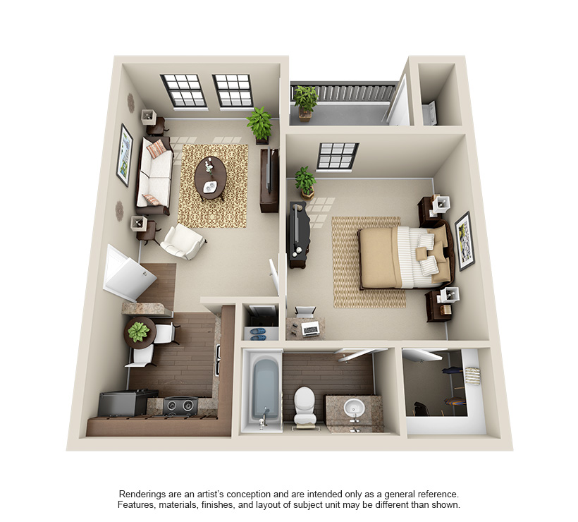 The Hills at Fair Oaks One Bedroom A1