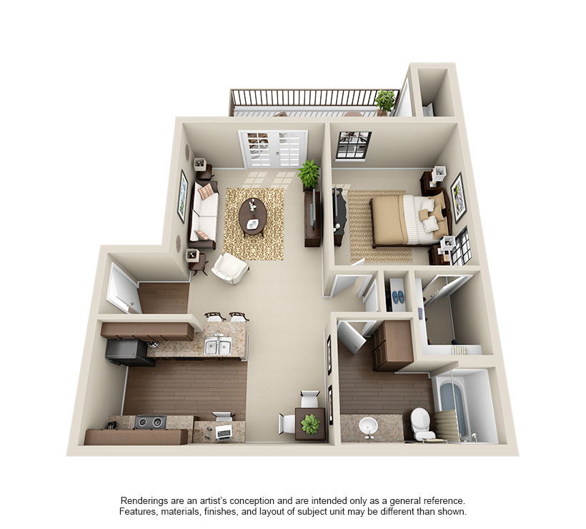 The Hills at Fair Oaks One Bedroom A2