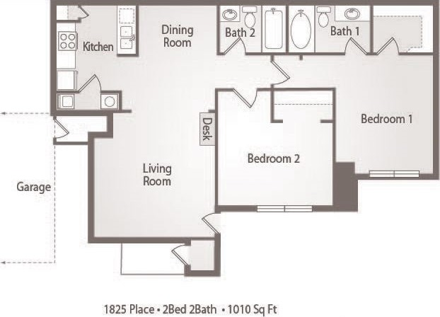 B1 - 2 Bedroom 2 Bath