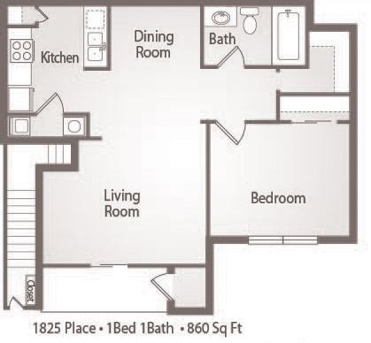 A2 - 1 Bedroom 1 Bath