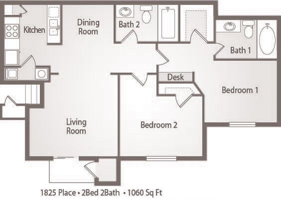B3 -  2 Bedroom 2 Bath