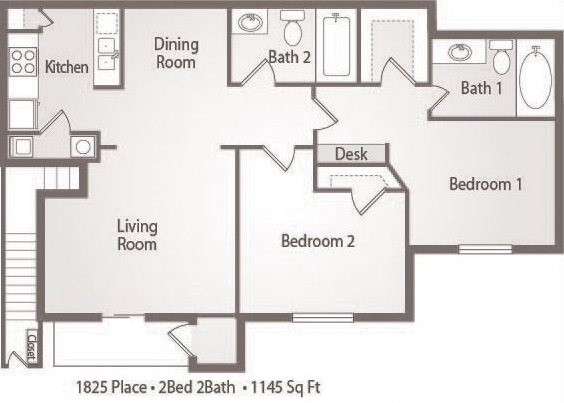 B4 - 2 Bedroom 2 Bath