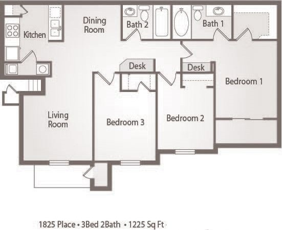 C1 - 3 Bedroom 2 Bath