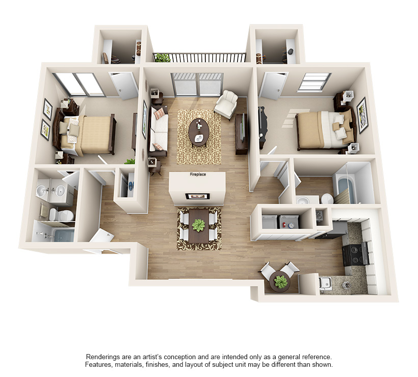 Dawntree Apartment Homes B2 Classic