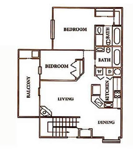 View Floor Plan. 1   2 Bedroom Apartments in Irving with Patio   Balcony