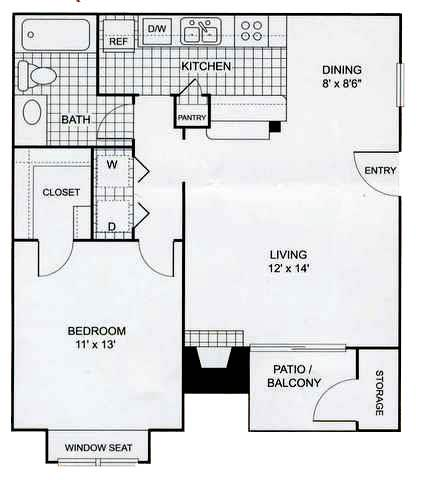 View Floor Plan. 1   2 Bedroom Apartments in Irving with Laundry Facilities On Site