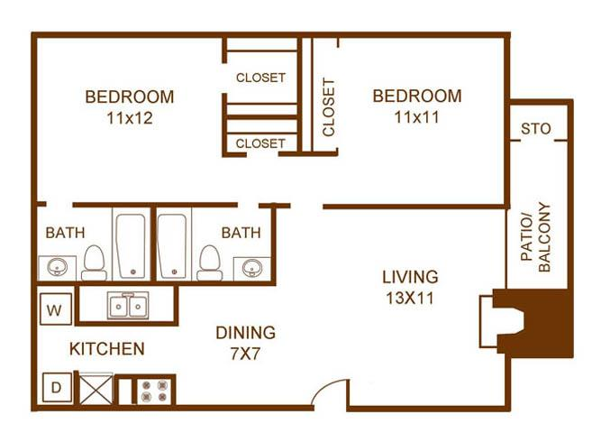 View Floor Plan. 1   2 Bedroom Apartments in Dallas with Air Conditioning
