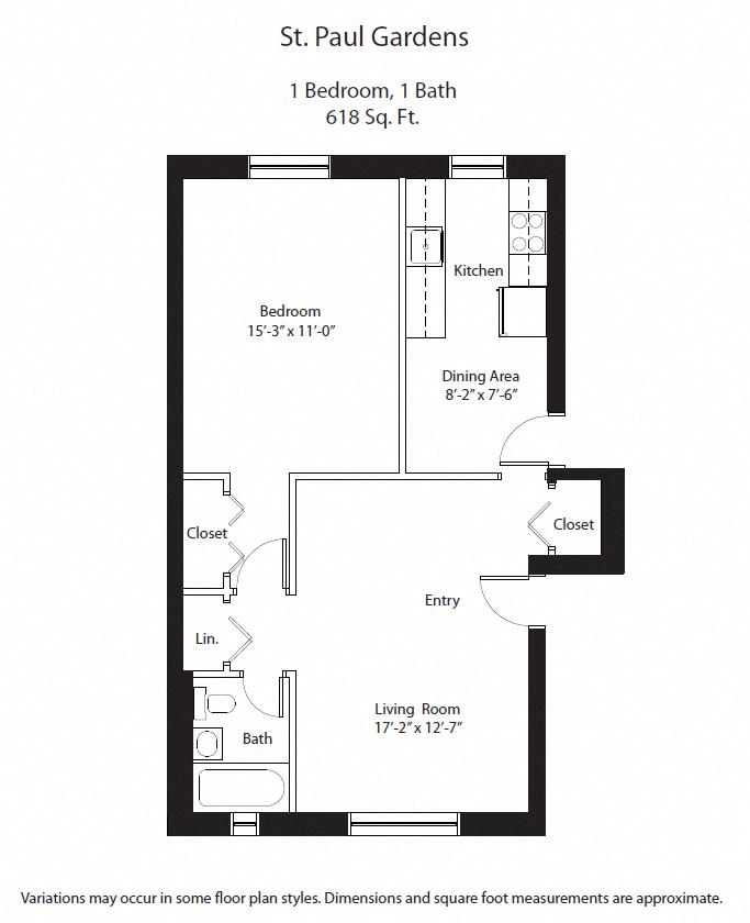 Floor plan 1 BR image 3