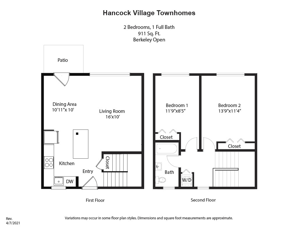 Floor plan 2 Bedroom Townhome  - Heat and Hot Water Included image 3