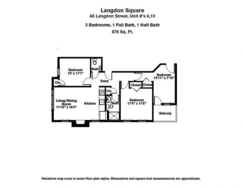 Floor plan 3 BR image 2