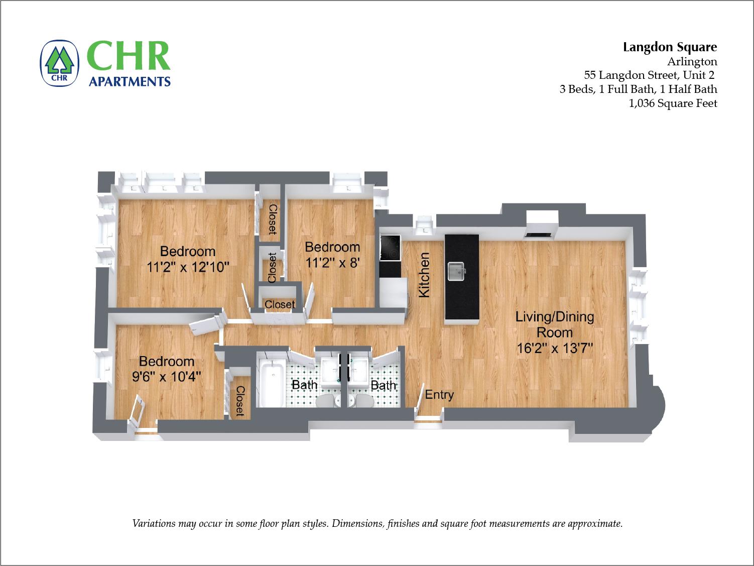 Floor plan 3 Bedroom image 6