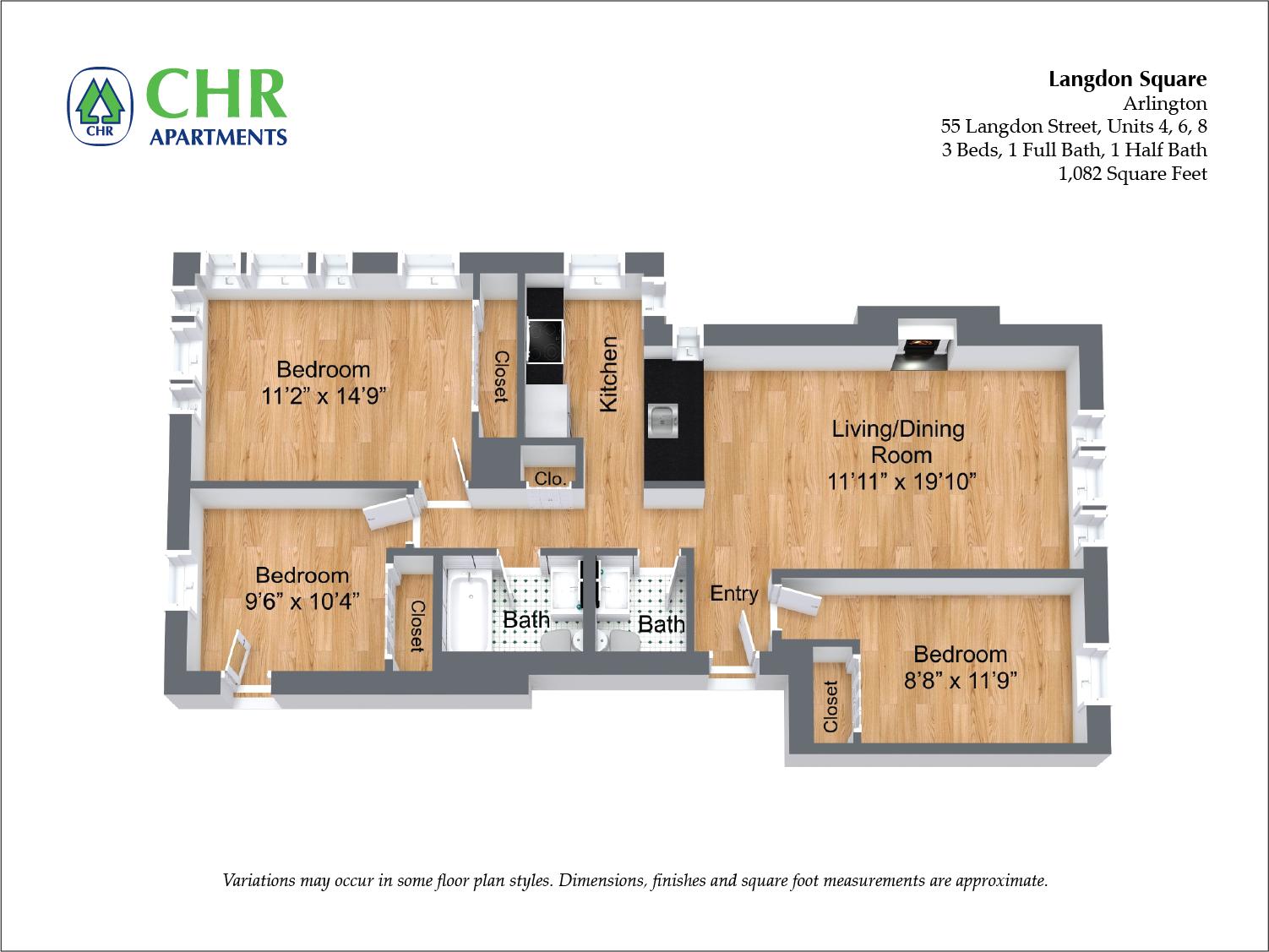 Floor plan 3 Bedroom image 8