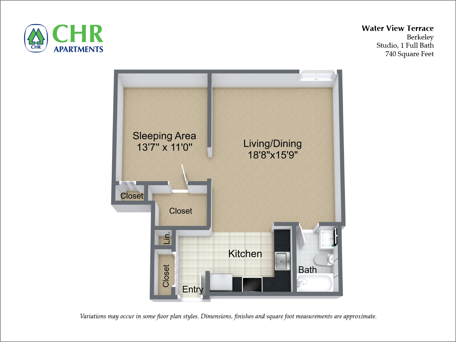 Floor plan Studio Suite image 3