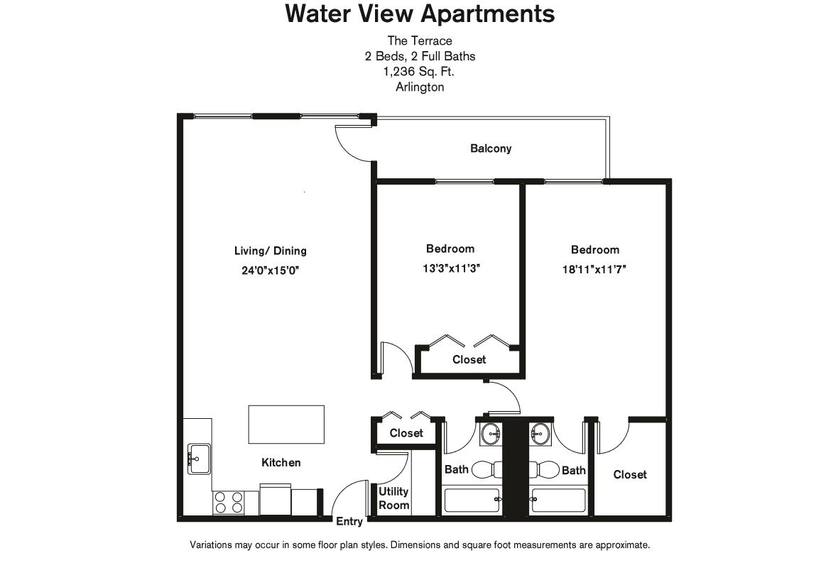 Click to view Floor plan 2 BR Large w/ Balcony image 4
